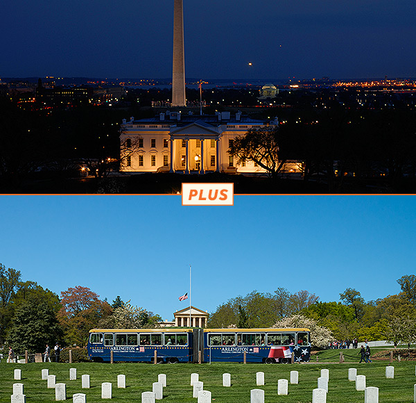 Monuments by Moonlight & Arlington National Cemetery Tour