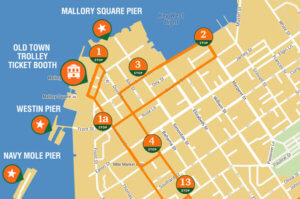 picture of key west map showing cruise ship pier locations