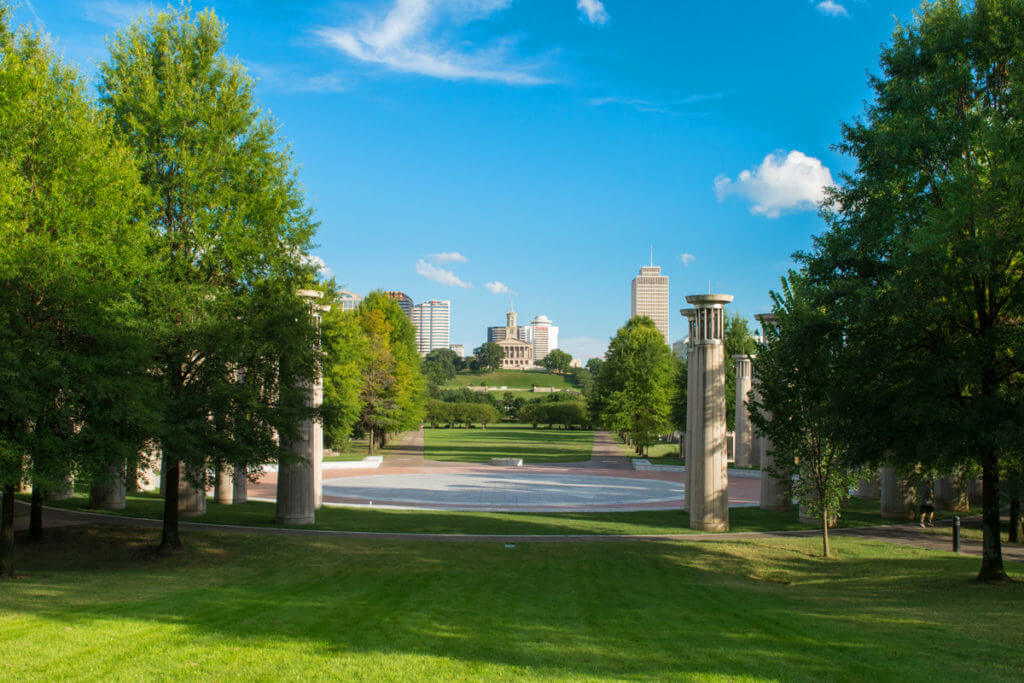 A view of the mall in Nashville's Bicentennial Park