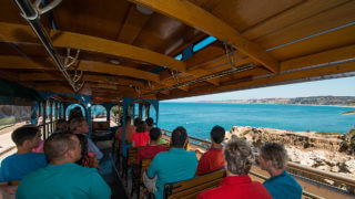 san diego beach tour trolley interior