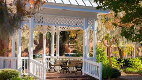 Beautiful gazebo in Savannah's squares