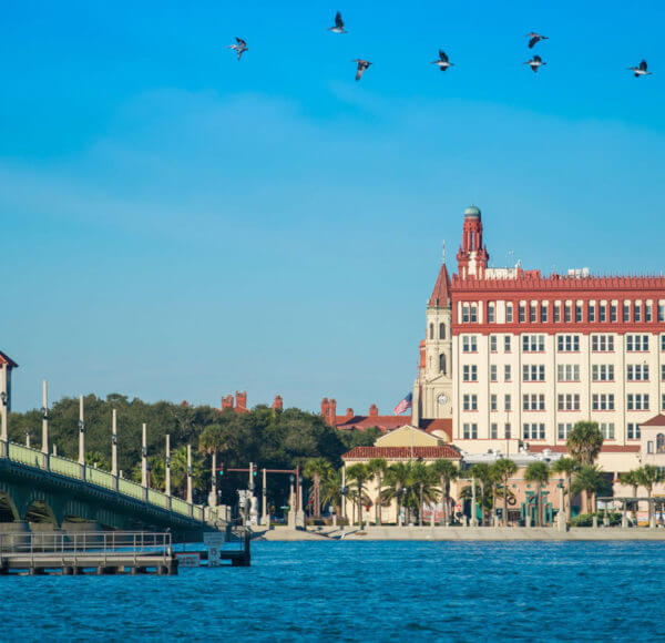 View of St. Augustine from Matanzas River