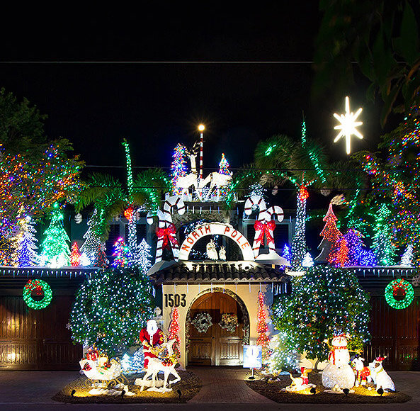 key west holiday lights tour