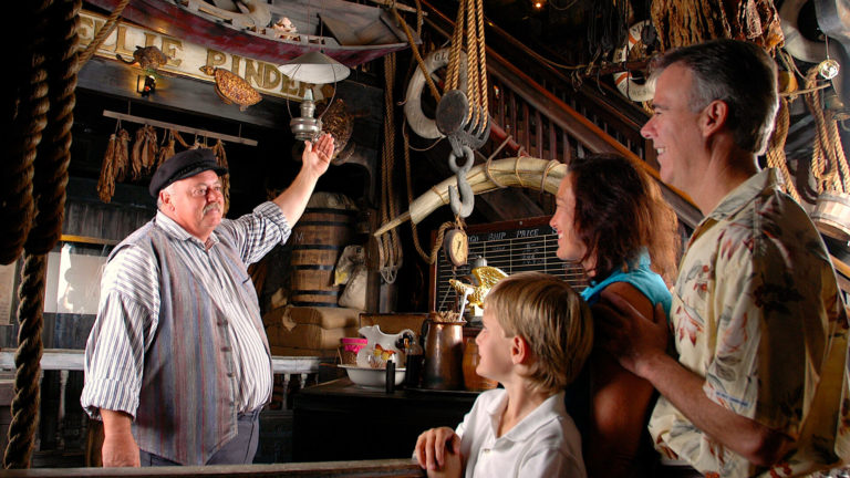 Group tour inside the Key West Shipwreck Museum